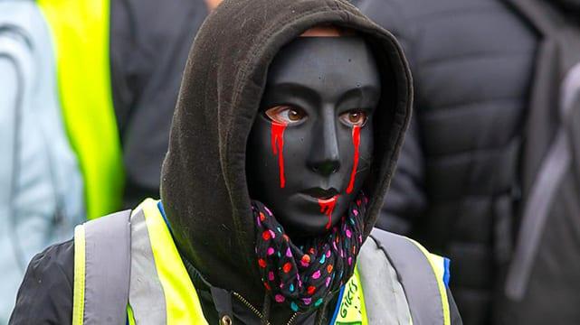 A Gilets Jaunes Protestor. Credit: Patrice Calatayu