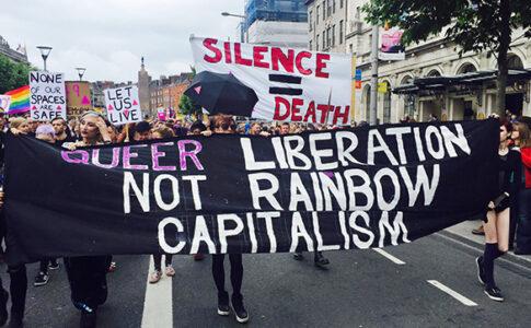 Queer activists at Pride in Dublin, 2016. Credit: Aloyisius