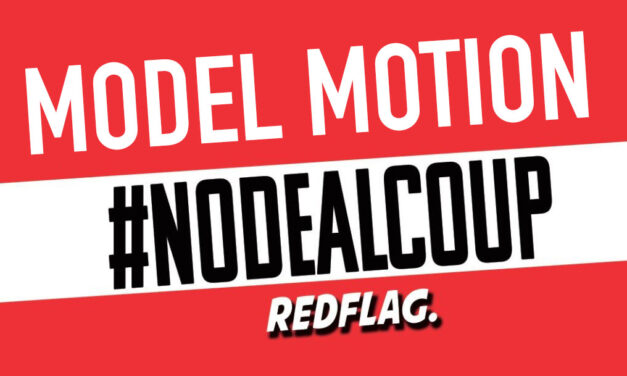 Model Motion: Stop The Coup – Stop No Deal
