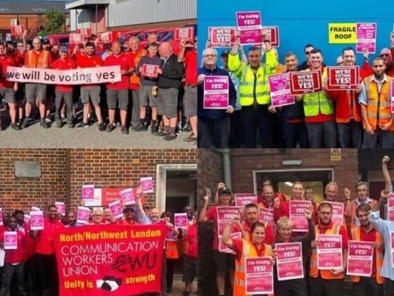 "CWU members up and down the country ready to vote ""Yes!"""