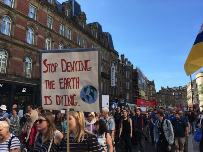 Climate strike protest